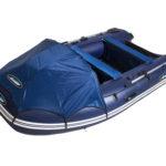 1.1 Лодка GLADIATOR E380 с НДНД темно синяя