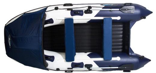 1.3 Лодка GLADIATOR E380 с НДНД бело синяя